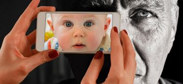 Face Old Smartphone Young Man Baby Youth Child